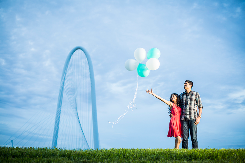 Dallas Skyline and Balloons