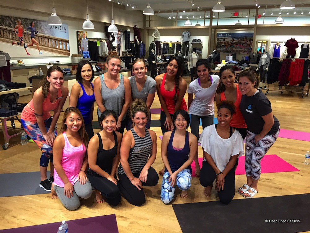 dallas fitness ambassadors flywheel athleta event