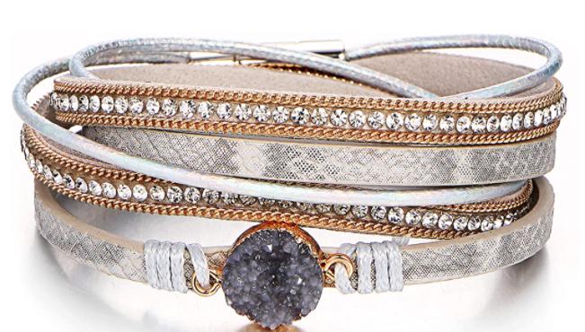 Boho wrap bracelet - silver