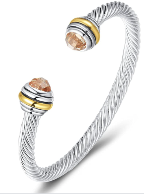 Wire Bangle Bracelet David Yurman Dupe